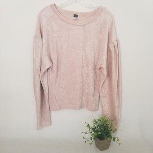 We The Free Sweaters - We Free XS Crushed Velvet Milan Sweatshirt 3612